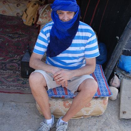 Sahara blue turban, GSN Camp Agafay, Morocco, 19.06.2017