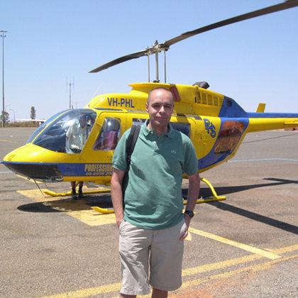 Helicopter tour, Uluru (Ayers Rock), Australia, 26.10.2003
